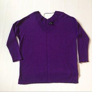 Xl worthington sweater tunic v neck purple